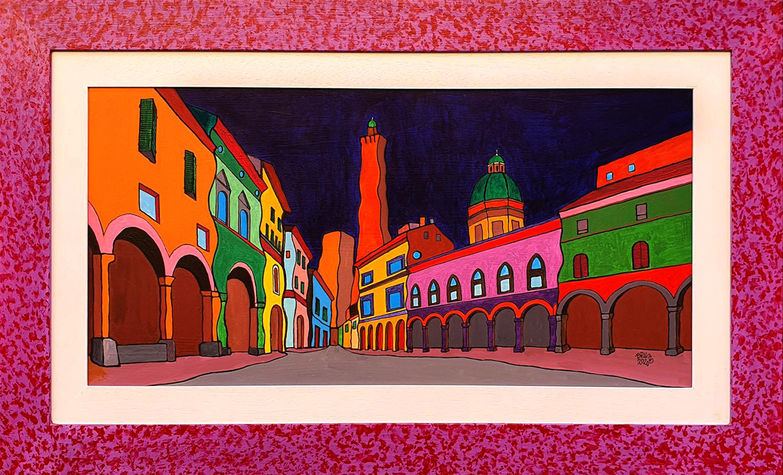 Bologna Santo Stefano - Acrilico su Legno 60x30 - 2020