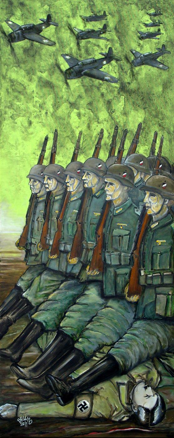 Hitler Dead - Acrilico su Tela 60x150 - 2011